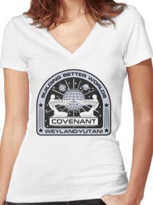 COVENANT Women's Fitted V-Neck T-Shirt