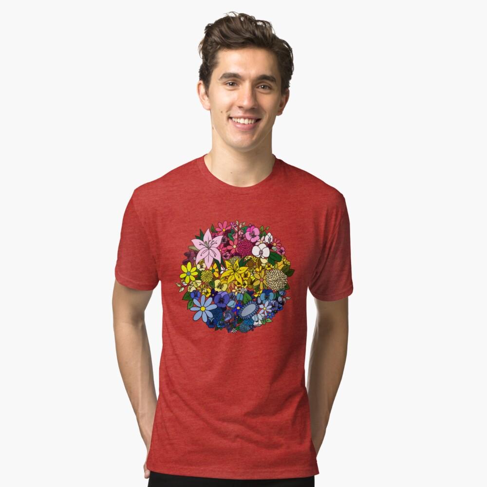 Pan Pride Blumen Vintage T-Shirt