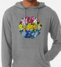 Pan Pride Blumen Leichter Hoodie