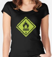 Flammable Sign Women's Fitted Scoop T-Shirt