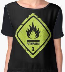 Flammable Sign Chiffon Top