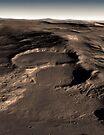 Drei Krater in der östlichen Hellas-Region des Mars. von StocktrekImages