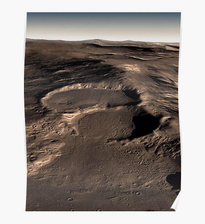 Drei Krater in der östlichen Hellas-Region des Mars. Poster