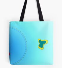 flying thru blue Tote Bag