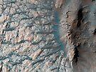Teil des Bodens eines großen Einschlagskraters im südlichen Hochland auf dem Mars. von StocktrekImages