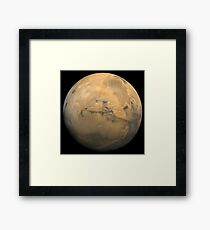 Global mosaic of Mars. Framed Print