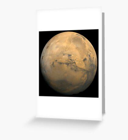 Globales Mosaik des Mars. Grußkarte