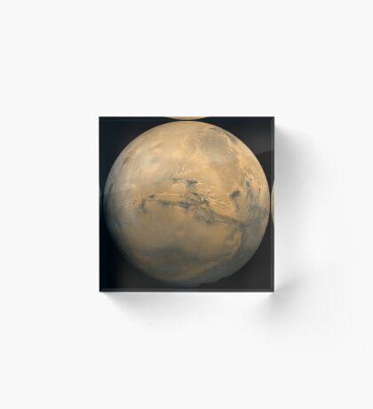 Globales Mosaik des Mars. Acrylblock