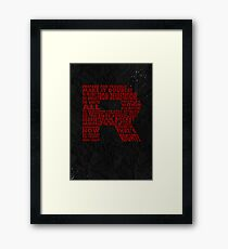 Team Rocket R Typography Framed Print
