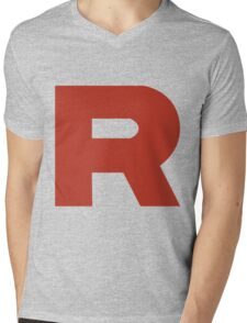 Team Rocket R Mens V-Neck T-Shirt