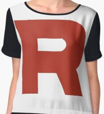 Team Rocket R Chiffon Top