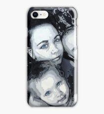 Mother and children in pop art by db Artstudio iPhone Case/Skin