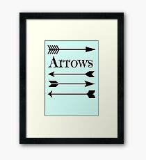 Arrows Framed Print