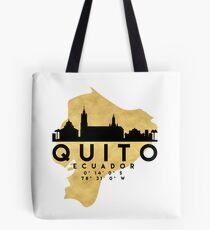 QUITO ECUADOR SILHOUETTE SKYLINE MAP ART Tote Bag