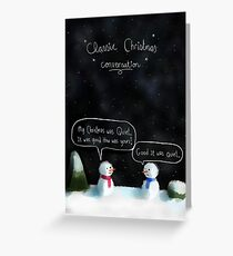 Christmas Conversation Greeting Card