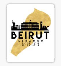 BEIRUT LEBANON SILHOUETTE SKYLINE MAP ART  Sticker