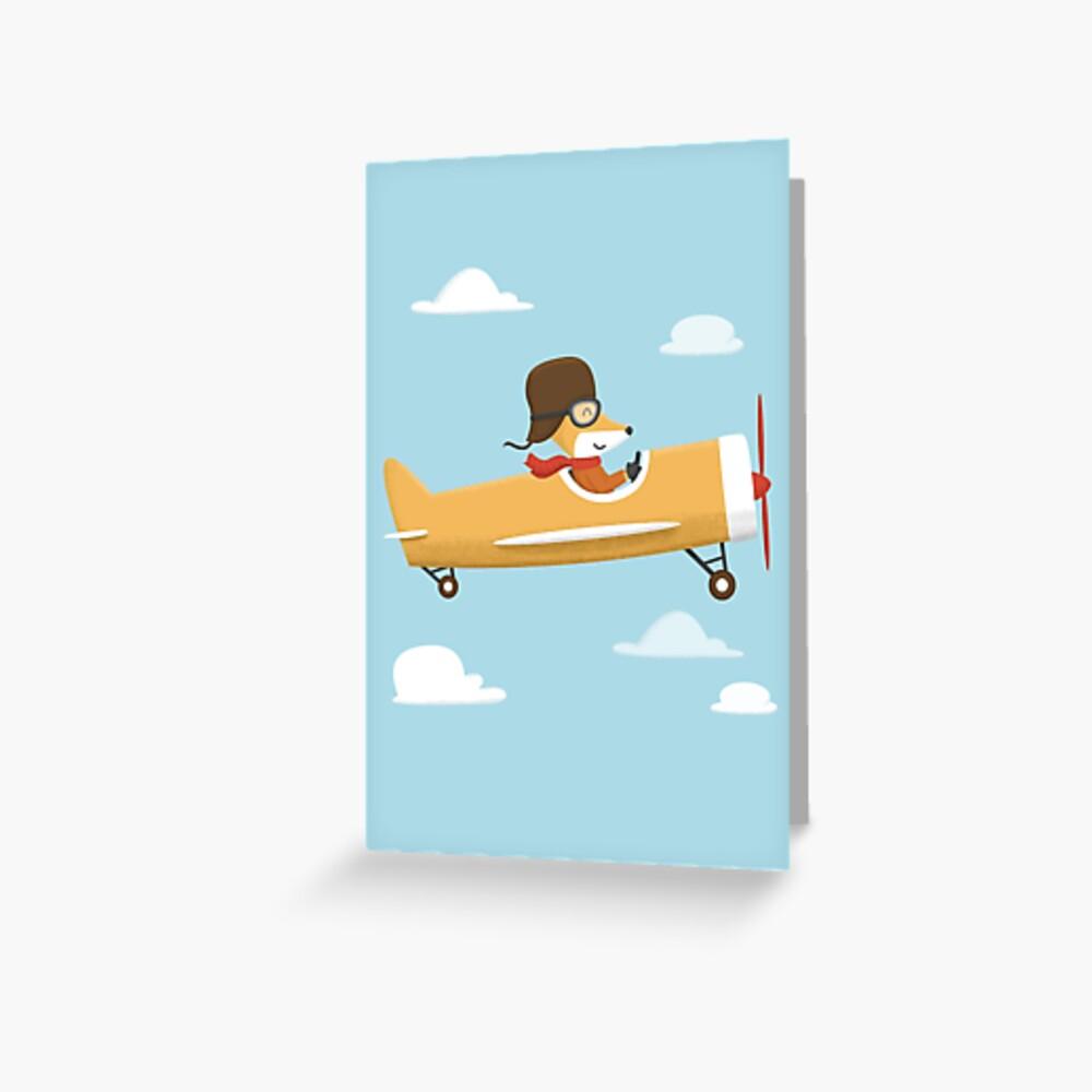 Mr. Fox is Flying Greeting Card