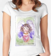 Angel of Peace Fitted Scoop T-Shirt