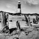 Spurn Point Lighthouse and Groynes by Sarah Couzens