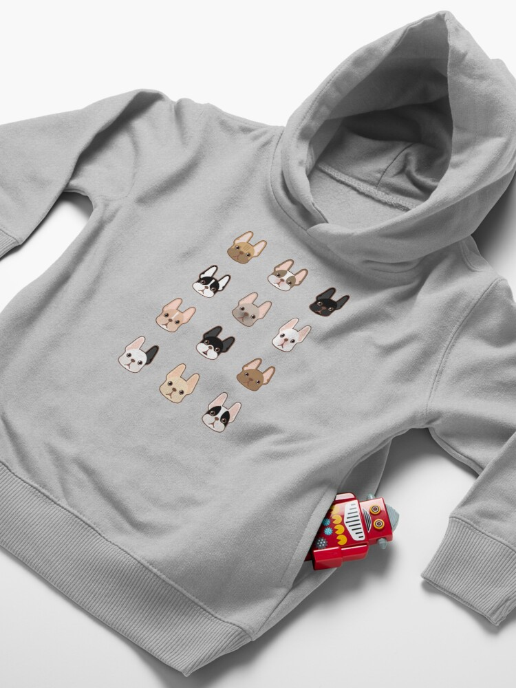Alternate view of Frenchies Family  Toddler Pullover Hoodie