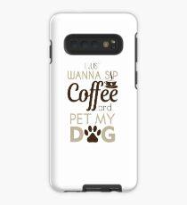 Kaffee & Haustier mein Hund Hülle & Klebefolie für Samsung Galaxy