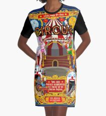 Carnival Circus Amusement Family Theme Park Illustration   Graphic T-Shirt Dress