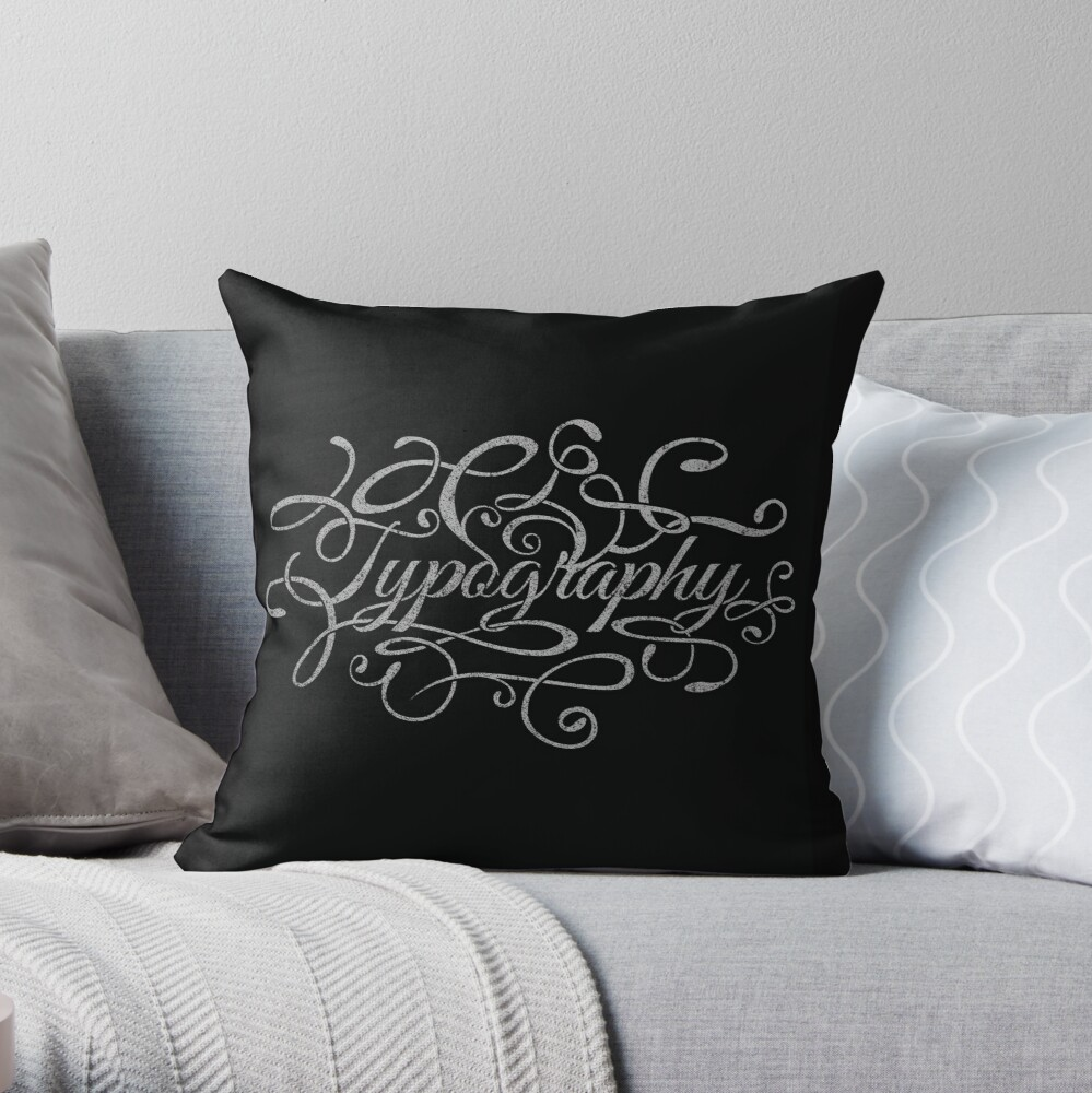 Typography on Typography Throw Pillow