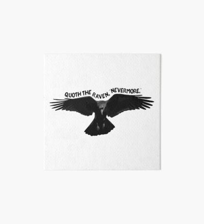 "Quoth the Raven, ""Nevermore."" - Edgar Allan Poe Poem Art Board"