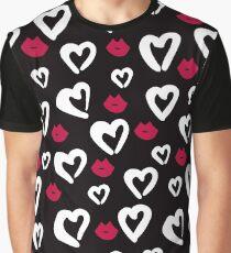 Valentine's Day Love Pattern Graphic T-Shirt