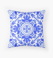 Portuguese azulejo tiles.  Throw Pillow