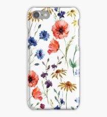 wild flower watercolor iPhone Case/Skin