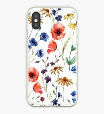 wild flower watercolor iPhone Case