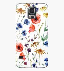 wild flower watercolor Case/Skin for Samsung Galaxy