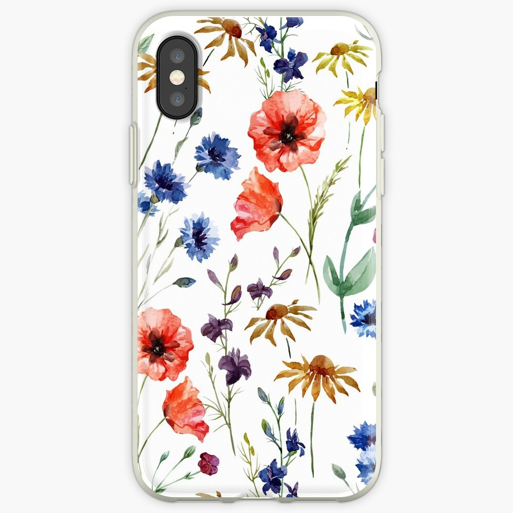 Wildblumen-Aquarell iPhone-Hüllen & Cover