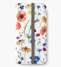 wild flower watercolor iPhone Wallet/Case/Skin
