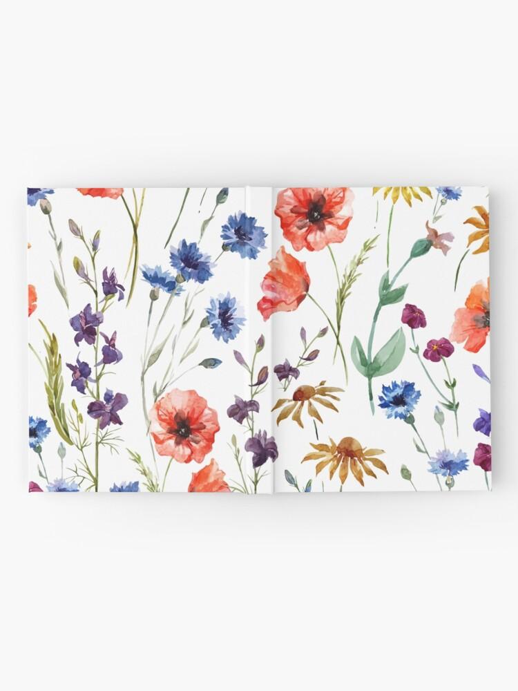 Alternative Ansicht von Wildblumen-Aquarell Notizbuch