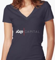 Axe Capital Women's Fitted V-Neck T-Shirt