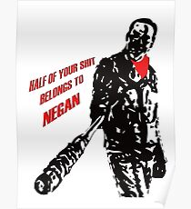Negan - The Walking Dead  Poster