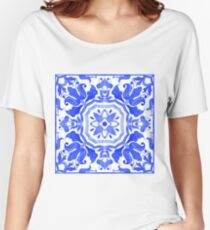 Portuguese azulejo tiles.  Women's Relaxed Fit T-Shirt