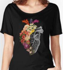 Camiseta ancha para mujer Flor corazón primavera