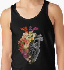 Blumen-Herz-Frühling Tanktop für Männer