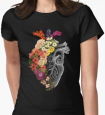 Flower Heart Spring Women's Fitted T-Shirt