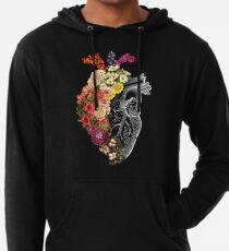 Sudadera con capucha ligera Flor corazón primavera