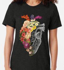 Blumen-Herz-Frühling Vintage T-Shirt
