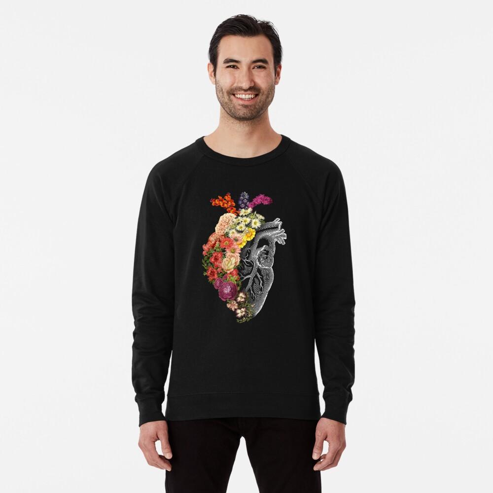 Flower Heart Spring Lightweight Sweatshirt