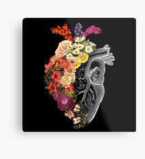 Flower Heart Spring Metal Print