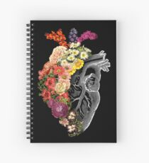 Flower Heart Spring Spiral Notebook