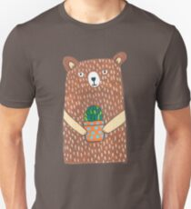 Cute Bear Holding His Plant Unisex T-Shirt