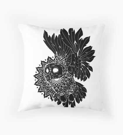 Space Owl Throw Pillow