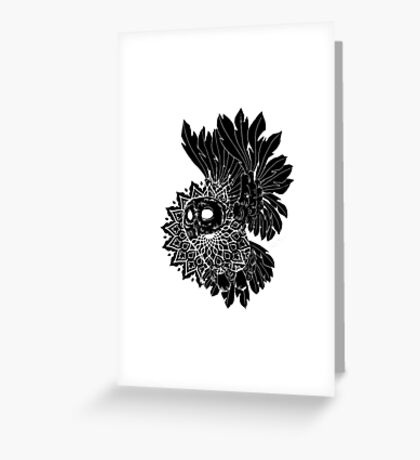 Space Owl Greeting Card